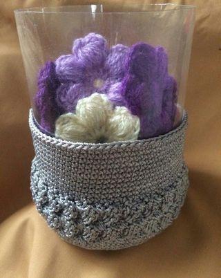 Crochet casing for brush