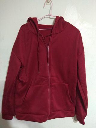 酒紅色 棒球外套