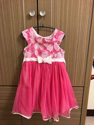 好市多購入女童 粉紅色洋裝