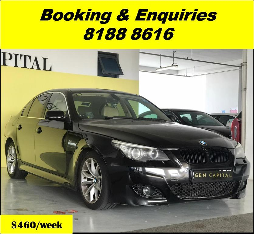 BMW 525i XL HAPPY WEDNESDAY!! JUST IN Superb Condition with the most Fuel Eficient & Spacious car. Cheapest rental in town with just $500 Deposit driveoff immediately. Whatsapp 8188 8616 now for special rates!! EVERY CAR MUST GO!!