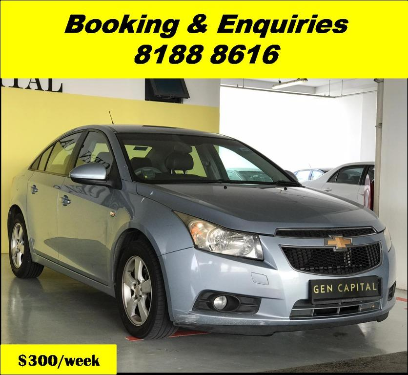 Chevrolet Cruze HAPPY WEDNESDAY!! JUST IN Superb Condition with the most Fuel Eficient & Spacious car. Cheapest rental in town with just $500 Deposit driveoff immediately. Whatsapp 8188 8616 now for special rates!! EVERY CAR MUST GO!!