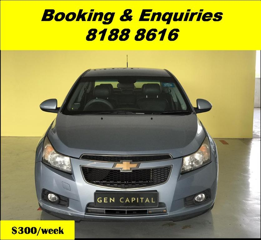 Chevrolet Cruze HAPPY WEDNESDAY! We have lowered our rental rates due to COVID19 to allow you to travel with a peace of mind. Just $500 Deposit driveoff immediately. Whatsapp 8188 8616 now for special rates!!