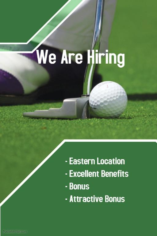 Golf Course Marshal (Up to $1900 / East / Good benefits)