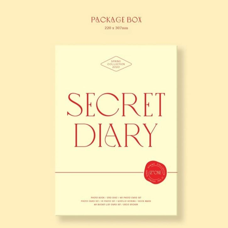 IZONE IZ*ONE - SPRING COLLECTION SECRET DIARY [PHOTOBOOK PACKAGE]