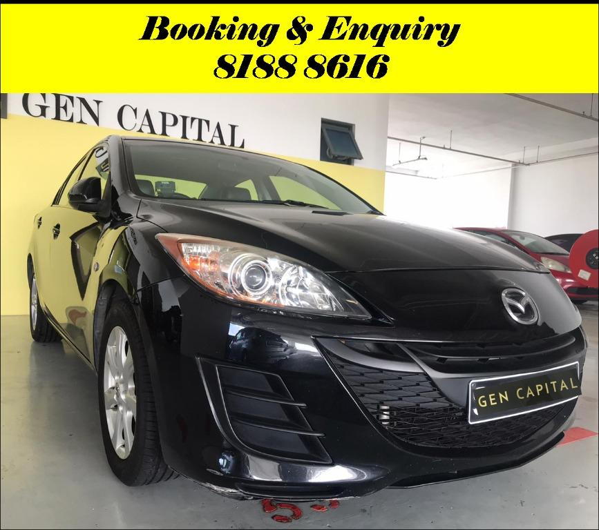 Mazda 3 1.6A HAPPY WEDNESDAY!! JUST IN Superb Condition with the most Fuel Eficient & Spacious car. $500 Deposit driveoff immediately. Whatsapp 8188 8616 now for special rates!! EVERY CAR MUST GO!!
