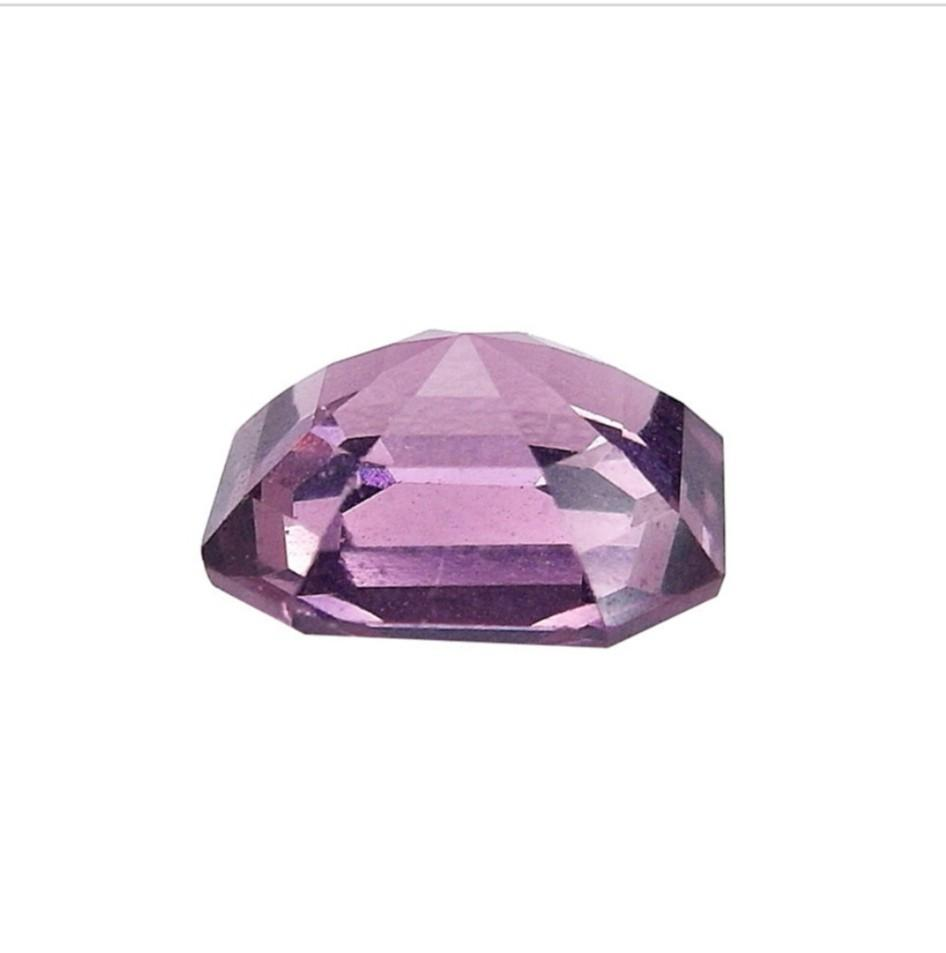 NATURAL PERFECT ASSCHER PURPLE RED VVS SPINEL 2.13CT (WITH CERTIFICAT)