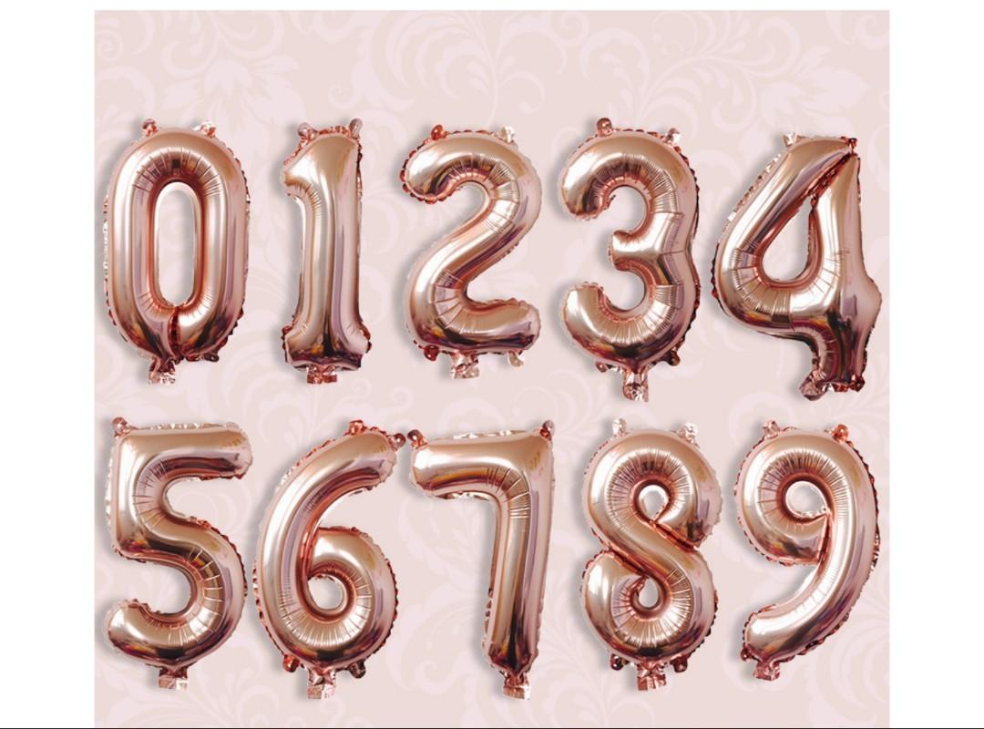 NEW 32 inch Number Balloons Helium Foil Gold/Silver/Rainbow/Rose Gold