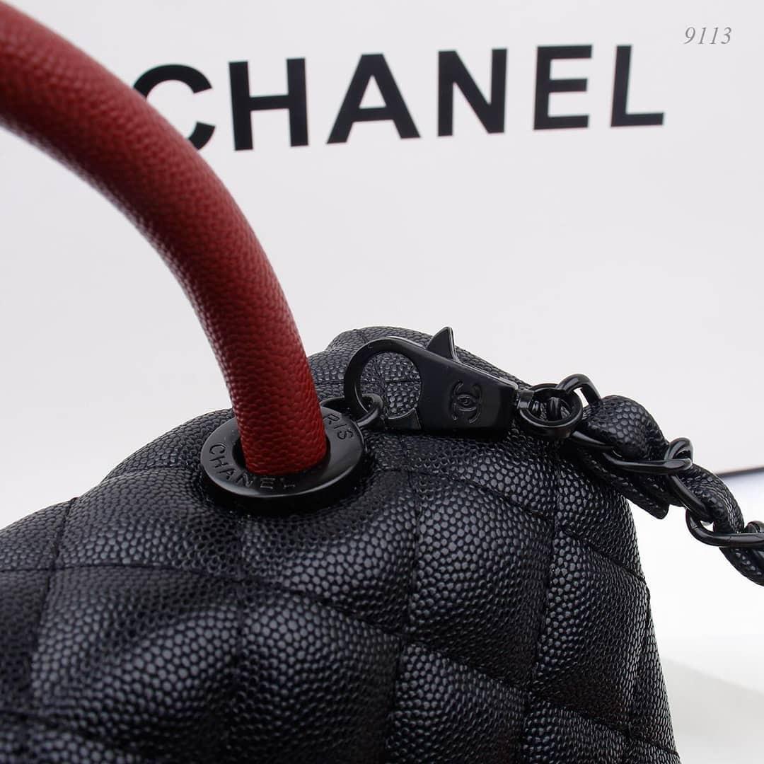 New chanel totebag original leather mirror VIP Authentic di atas Mirror ya ada nosernya with fullset