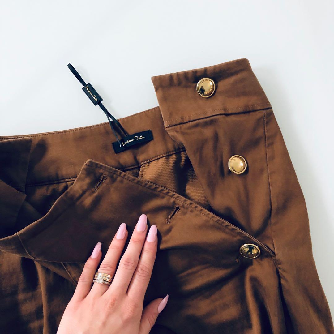 NEW Massimo Dutti chocolate trousers high waist size S