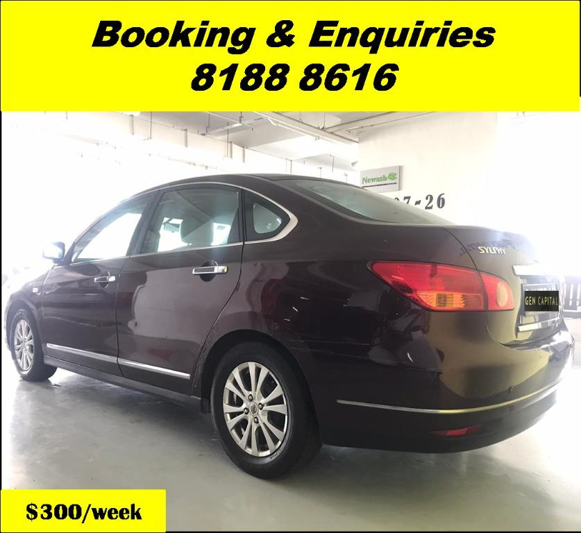Nissan Sylphy HAPPY WEDNESDAY!! JUST IN Superb Condition with the most Fuel Eficient & Spacious car. Cheapest rental in town with just $500 Deposit driveoff immediately. Whatsapp 8188 8616 now for special rates!! EVERY CAR MUST GO!!