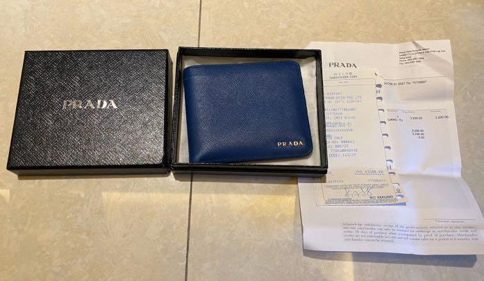 Pre-order, authentic, Prada unisex Wallet, come with complete set - box, receipt, care card, original price HKD3200
