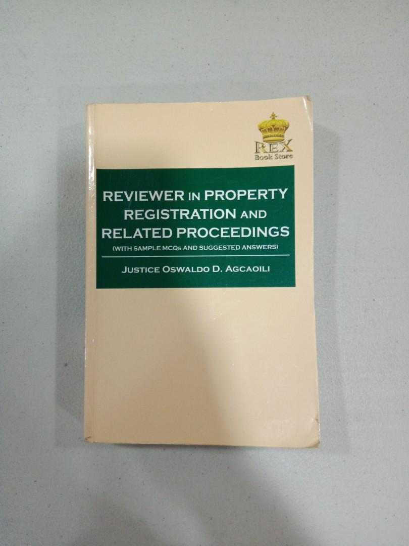Reviewer in Property Registration and Related Proceedings by Justice Agcaoili