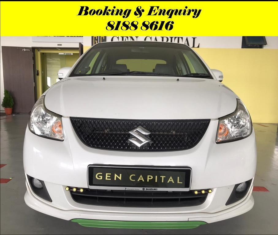 Suzuki SX4 HAPPY WEDNESDAY! We have lowered our rental rates due to COVID19 to allow you to travel with a peace of mind. Just $500 Deposit driveoff immediately. Whatsapp 8188 8616 now for special rates!!