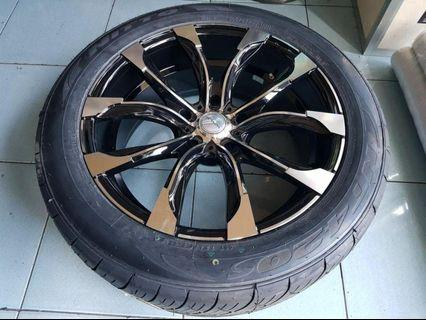 Wald 22 inch rims Mags opt Tires Nitto toyo Achilles LC200 deferred