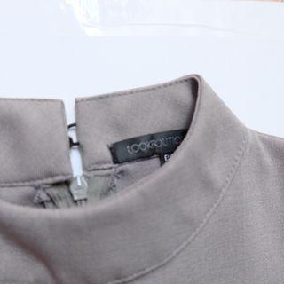 Grey Dress (dress abu abu)