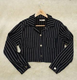 Crop top button down long sleeves