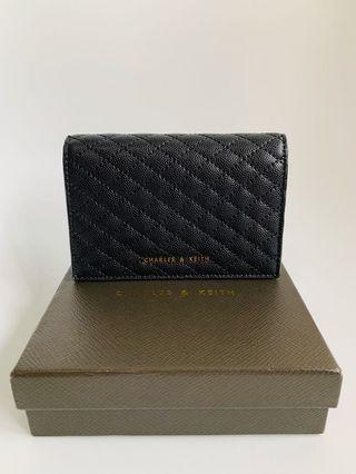 Charles & Keith Black Quilted Wallet