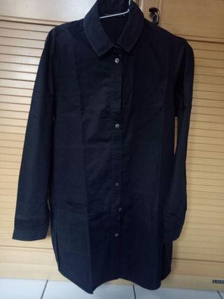 minimal black tunic