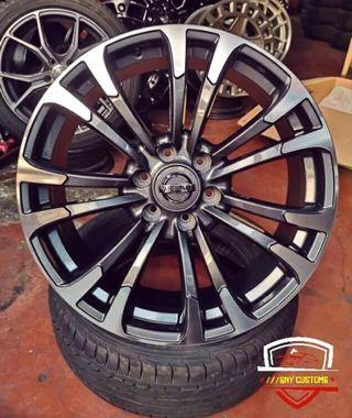 Nissan Royal Patrol 20 inch rims Mags gun metal color 6 x 139 pcd 22 inch also available