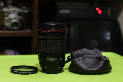 Canon 135mm f2.0L USM Lens.