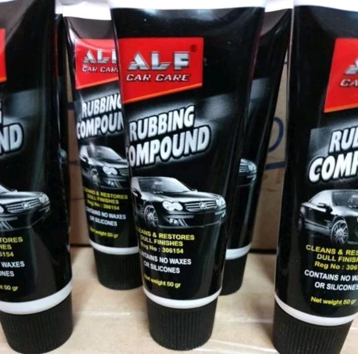 ALF CAR CARE RUBBING COMPOUND - Kompon Alfa Putih Penghilang Baret Body Motor Mobil Murah - 50 gr Terlaris