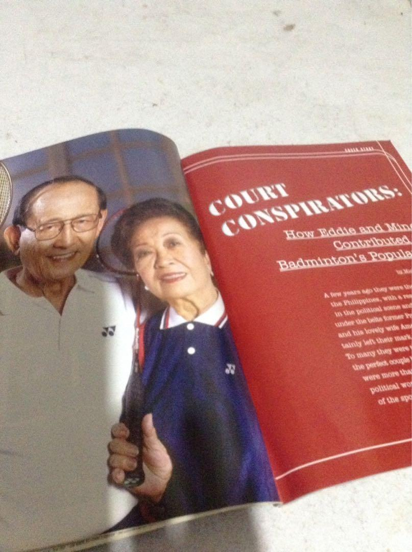 BADMINTON magazine/First Issue/Pres. FVR & wife on the cover!/Year 2004