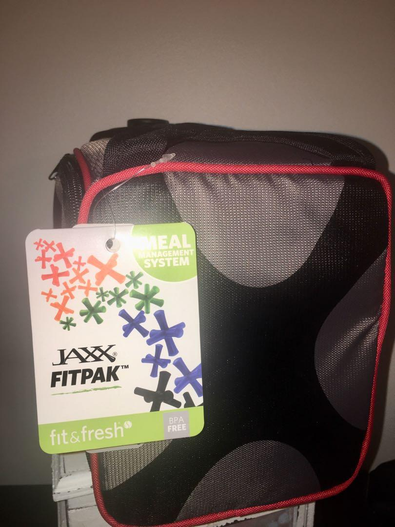 BNWT JAXX by fit fresh insulated meal prep bag with portion control