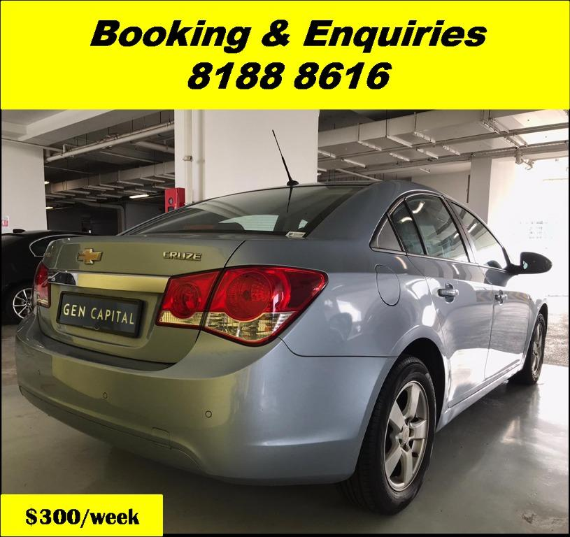 Chevrolet Cruze THURSDAY PROMO 05/03/20. Lowest rental rates in town! PHV/ Personal/ Parcel delivery ready. Just $500 Deposit driveoff immediately. No hidden cost. Whatsapp 81888616 now!