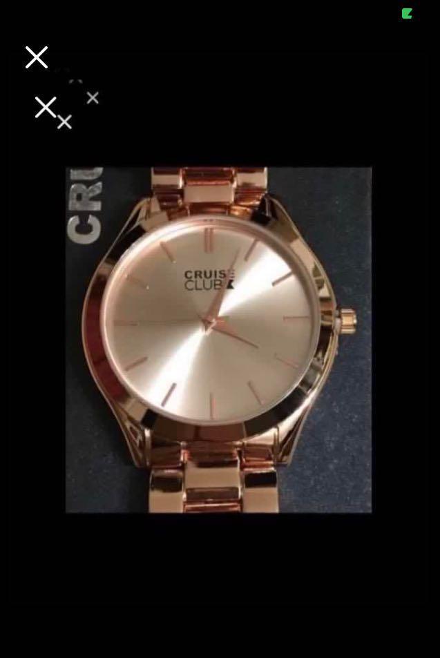 CLEARANCE SALES {Sports Gear - Quartz Watch} BN CRUISE CLUB Brand Men's Gold Metal Classic Rose Gold Colour Stainless Steel CaseBack & Bracelet Wrist Quartz Watch