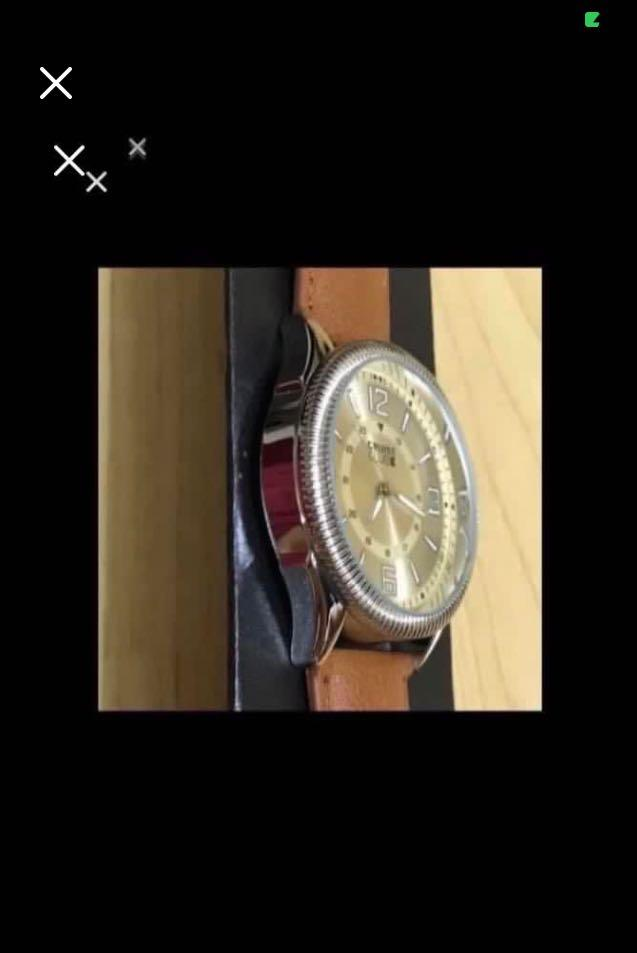 CLEARANCE SALES {Sports Gear - Quartz Watch} BN CRUISE CLUB Brand Men's Large Dial Sport Match Brown Leather Belt Stainless Steel Case Back Wrist Quartz Watch