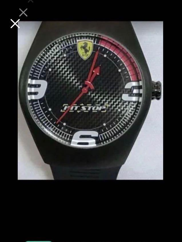 CLEARANCE SALES {Sports Gear - Sports Watch} Pre-loved Authentic Ferrari Brand Stainless Steel Case Unisex Sporty Quartz Watch