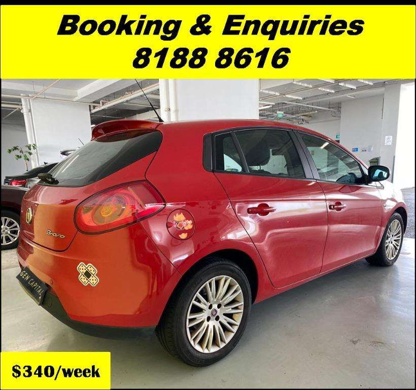 Fiat Bravo HAPPY THURSDAY! Lowered our rental rates due to COVID19 to allow you to travel with a peace of mind. Superb Condition with the most Fuel Efficient & Spacious car. Whatsapp 8188 8616 now for special rates!!