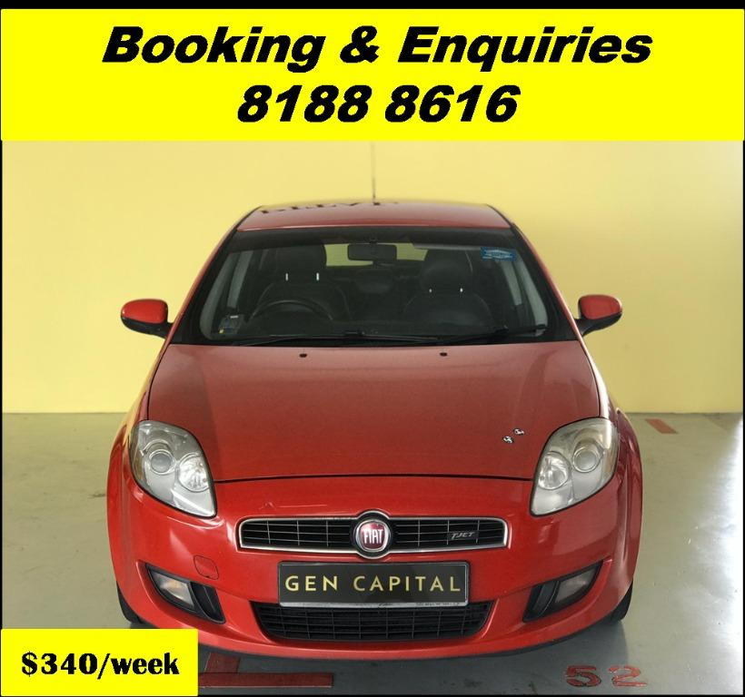 Fiat Bravo JUST IN 05/03/20. Most Economical, High Fuel Efficiency & Reliability. PHV/ Personal/ Parcel delivery ready. Just $500 Deposit driveoff immediately. No hidden cost. Whatsapp 81888616 now!