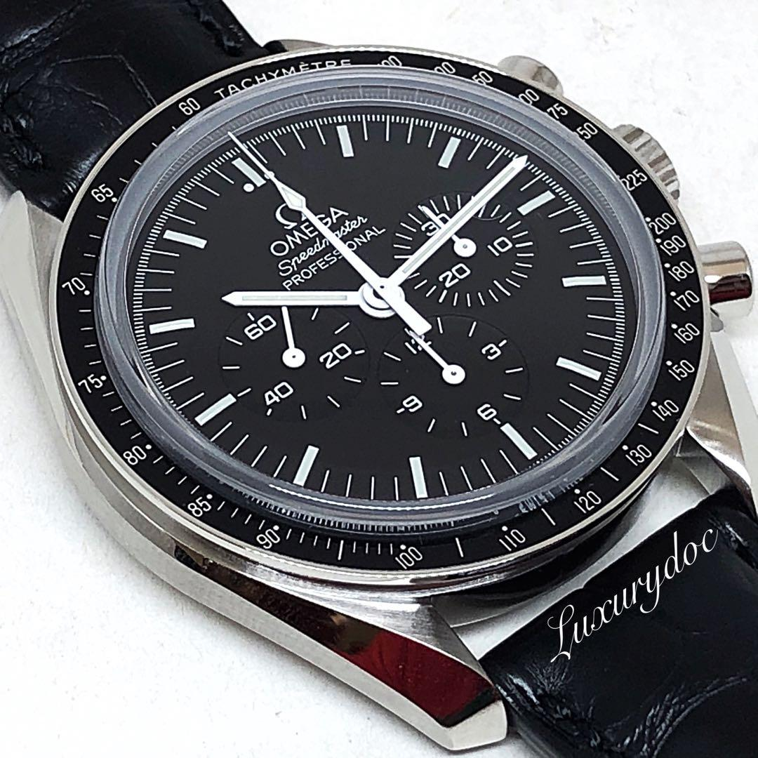 FS.BNIB OMEGA SPEEDMASTER MOONWATCH PROFESSIONAL CHRONOGRAPH SAPPHIRE SANDWICH STEEL ON LEATHER 42MM WATCH 311.33.42.30.01.002