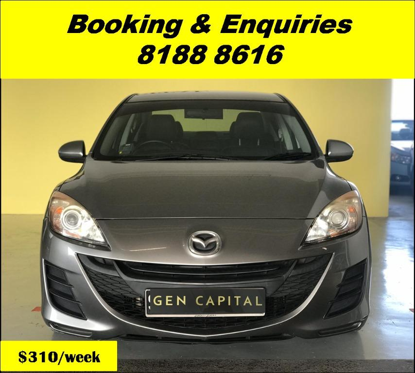 Mazda 3 HAPPY THURSDAY! Lowered our rental rates due to COVID19 to allow you to travel with a peace of mind. Superb Condition with the most Fuel Efficient & Spacious car. Whatsapp 8188 8616 now for special rates!!