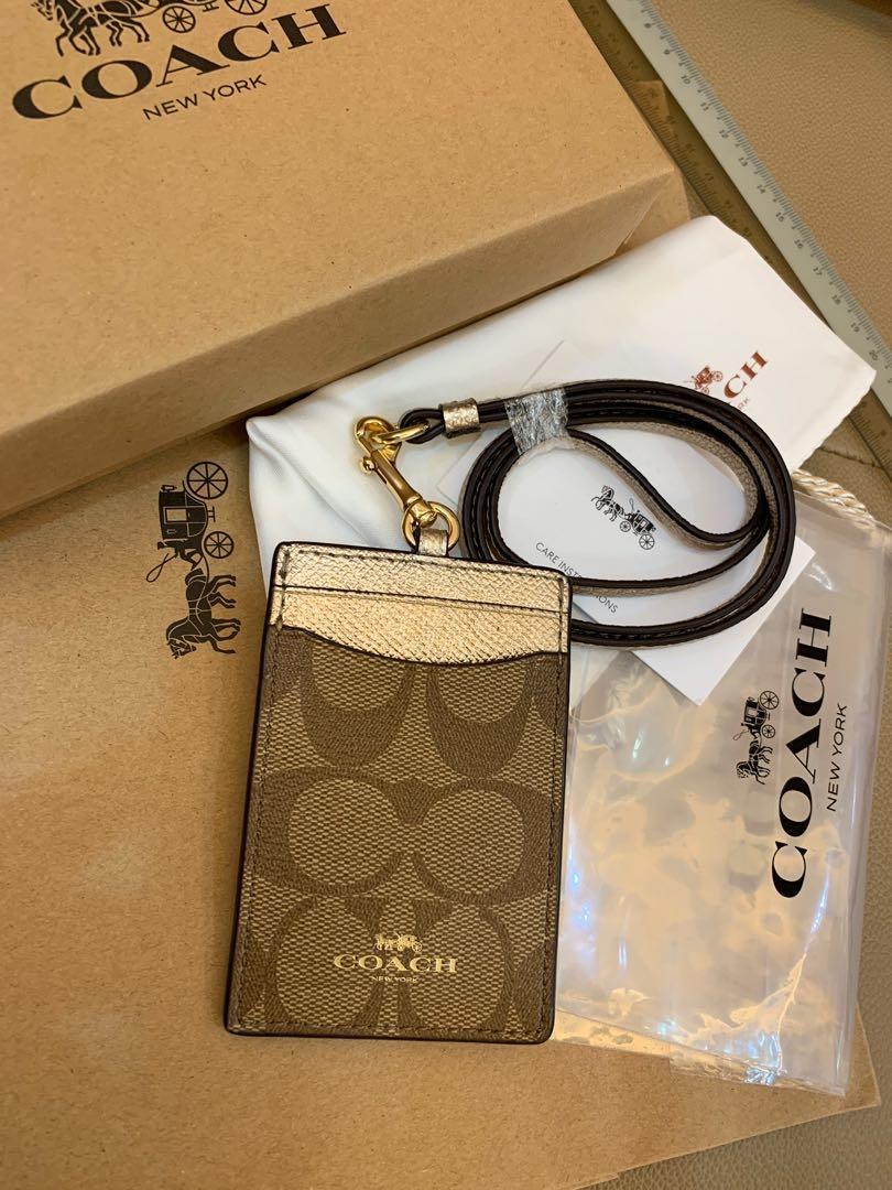 Ready Stock authentic coach women lanyard cards holder with strap ready stock hhbjj