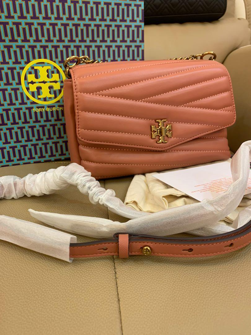 Ready Stock authentic Tory Burch Fleming small Kira chelvon sling bag in pink jjj
