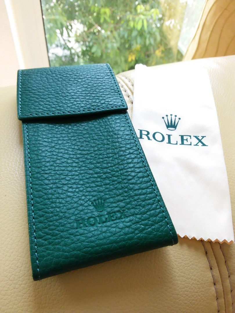 Rolex Watch Leather Pouch & Cleaning Cloth Set.                                                       Tudor Cartier Omega AP Chopard Tag Heuer