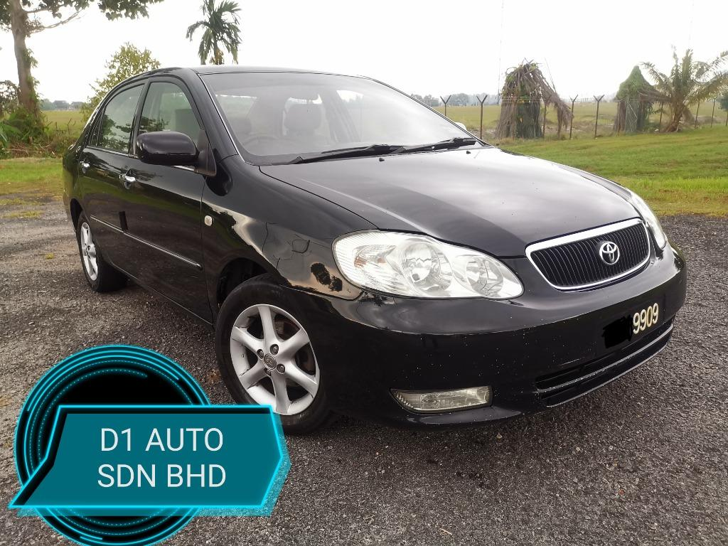 TOYOTA ALTIS 1.8 AT G-SPEC NEW PAINT NEW TIRE SPORT RIM LEATHER REVERSE CAMERA