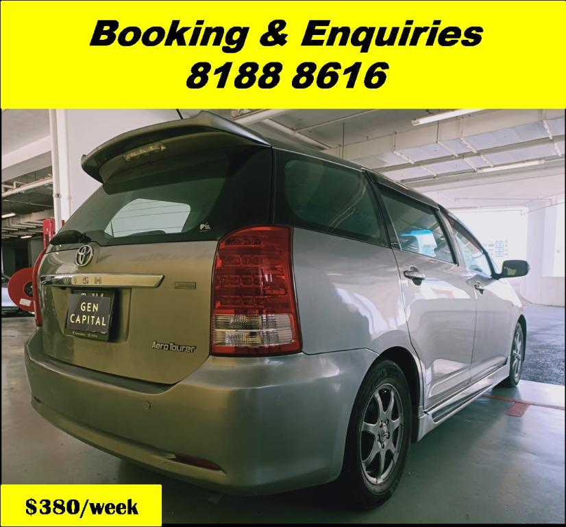 Toyota Wish HAPPY THURSDAY! Lowered our rental rates due to COVID19 to allow you to travel with a peace of mind. Superb Condition with the most Fuel Efficient & Spacious car. Whatsapp 8188 8616 now for special rates!!