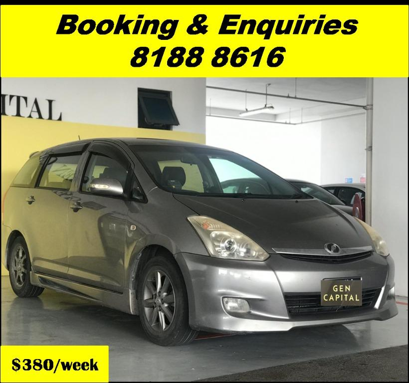 Toyota Wish THURSDAY PROMO 05/03/20. Lowest rental rates in town! PHV/ Personal/ Parcel delivery ready. Just $500 Deposit driveoff immediately. No hidden cost. Whatsapp 81888616 now!
