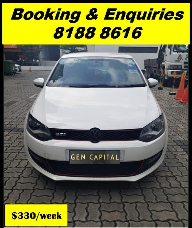 Volkswagen Polo THURSDAY PROMO 05/03/20. Lowest rental rates in town! PHV/ Personal/ Parcel delivery ready. Just $500 Deposit driveoff immediately. No hidden cost. Whatsapp 81888616 now!