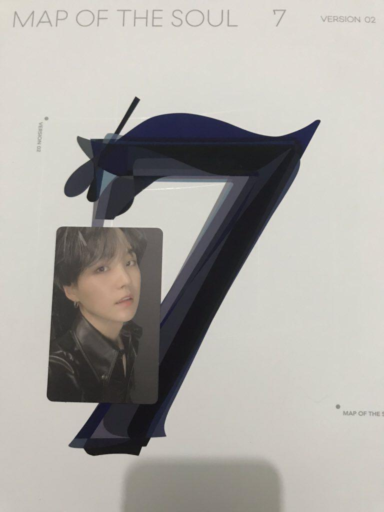 WTT BTS MAP OF THE SOUL : 7 SUGA PHOTOCARD TO JIMIN PC