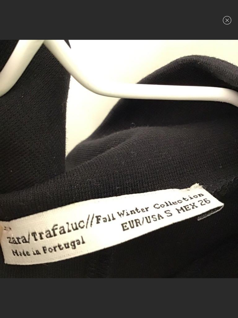 zara trafaluc collection fall winter Zipper black dress
