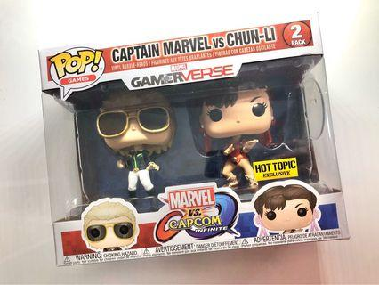 Funko POP - Captain Marvel vs Chun Li