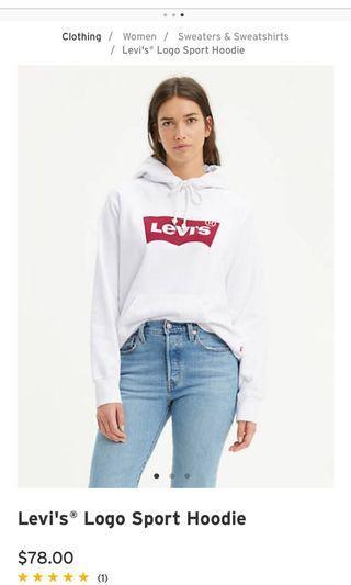 Levi's white hoodie