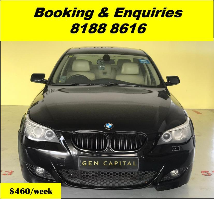 BMW 525i XL HAPPY FRIDAY!!! JUST IN with the most Fuel Eficient & Spacious car. Cheapest rental in town with just $500 Deposit driveoff immediately. Whatsapp 8188 8616 now to reserve!