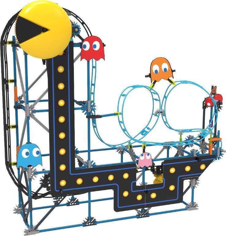 BNIB K'nex Pac-Man Roller Coaster Building Toy Set