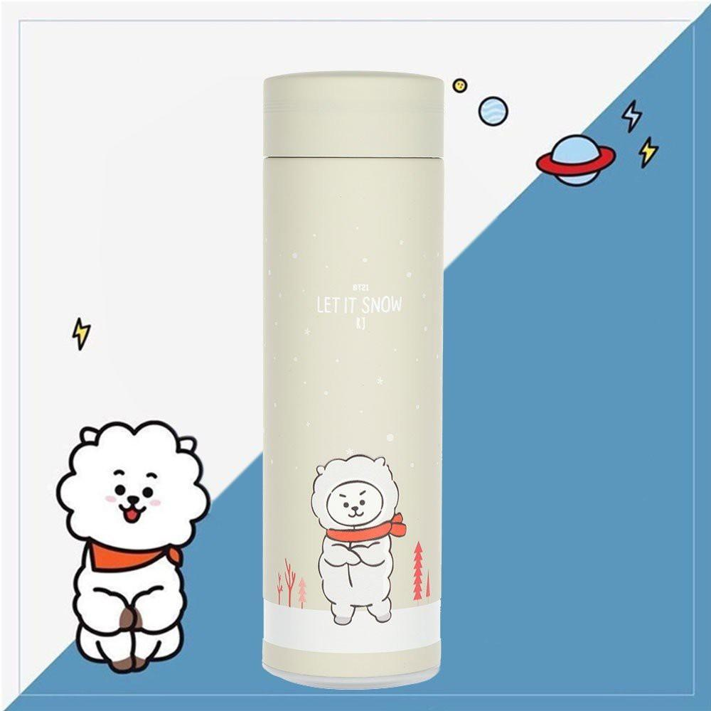 BT21 Vacuum Cup Water Thermos Bottle Heat Preservation Rm35 (Each)