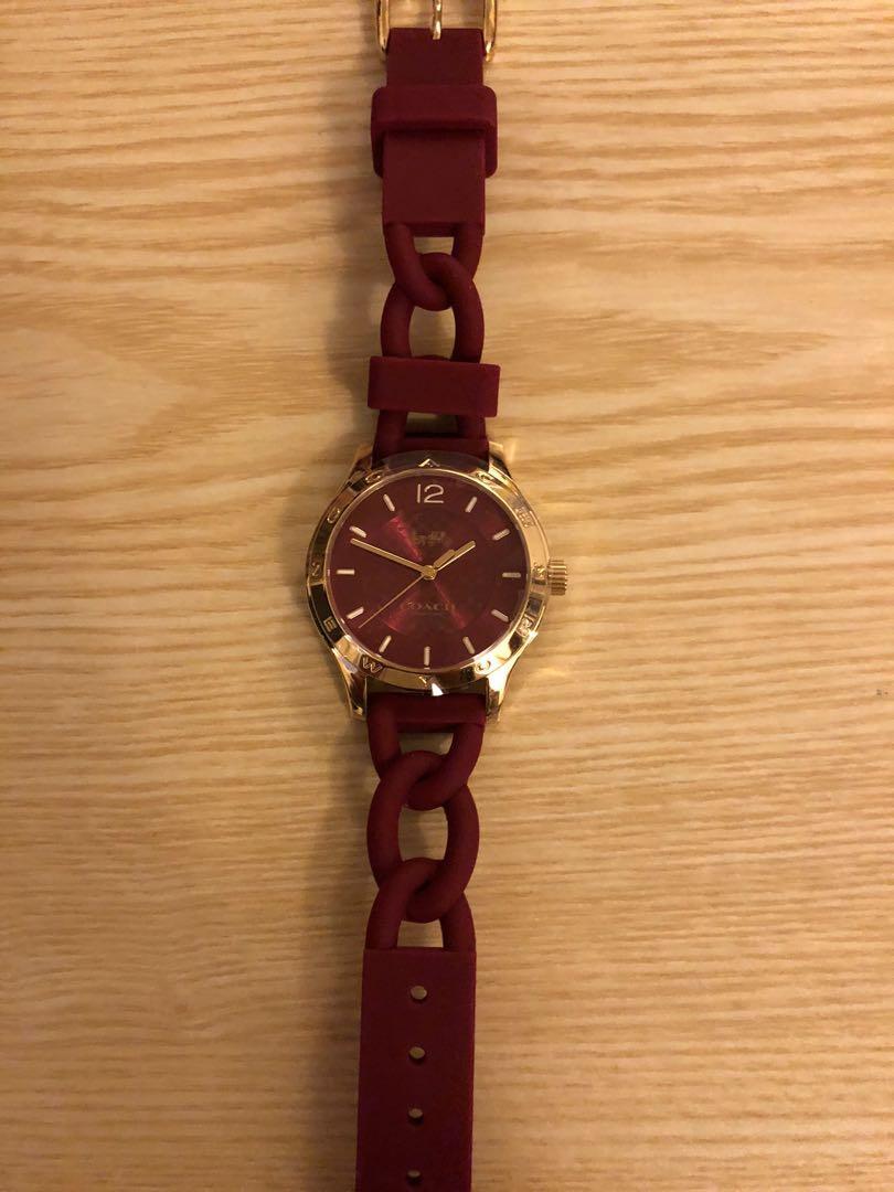 正貨Coach 矽膠錶帶手錶